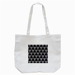 Triangle3 Black Marble & Gray Colored Pencil Tote Bag (white)