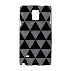 Triangle3 Black Marble & Gray Colored Pencil Samsung Galaxy Note 4 Hardshell Case
