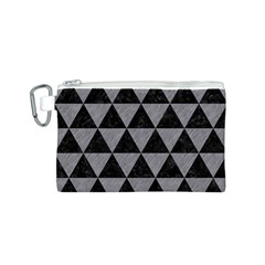 Triangle3 Black Marble & Gray Colored Pencil Canvas Cosmetic Bag (s)