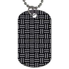 Woven1 Black Marble & Gray Colored Pencil Dog Tag (one Side)