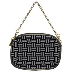 Woven1 Black Marble & Gray Colored Pencil Chain Purses (one Side)