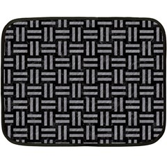 Woven1 Black Marble & Gray Colored Pencil Double Sided Fleece Blanket (mini)