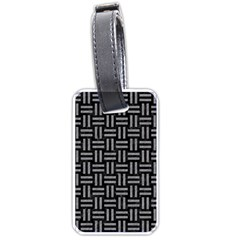 Woven1 Black Marble & Gray Colored Pencil Luggage Tags (two Sides)