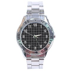 Woven1 Black Marble & Gray Colored Pencil Stainless Steel Analogue Watch