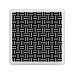 Woven1 Black Marble & Gray Colored Pencil Memory Card Reader (square)