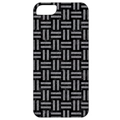 Woven1 Black Marble & Gray Colored Pencil Apple Iphone 5 Classic Hardshell Case