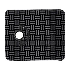 Woven1 Black Marble & Gray Colored Pencil Galaxy S3 (flip/folio)