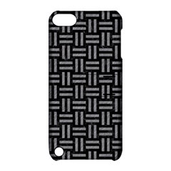 Woven1 Black Marble & Gray Colored Pencil Apple Ipod Touch 5 Hardshell Case With Stand