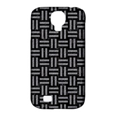 Woven1 Black Marble & Gray Colored Pencil Samsung Galaxy S4 Classic Hardshell Case (pc+silicone)