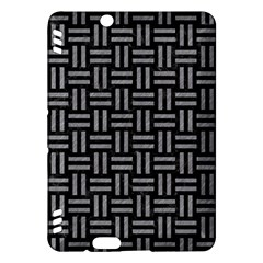 Woven1 Black Marble & Gray Colored Pencil Kindle Fire Hdx Hardshell Case