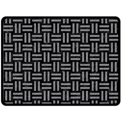 Woven1 Black Marble & Gray Colored Pencil Double Sided Fleece Blanket (large)