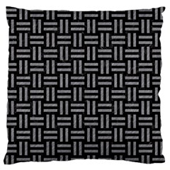 Woven1 Black Marble & Gray Colored Pencil Standard Flano Cushion Case (two Sides)