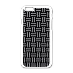 Woven1 Black Marble & Gray Colored Pencil Apple Iphone 6/6s White Enamel Case