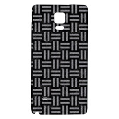 Woven1 Black Marble & Gray Colored Pencil Galaxy Note 4 Back Case