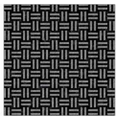 Woven1 Black Marble & Gray Colored Pencil Large Satin Scarf (square)