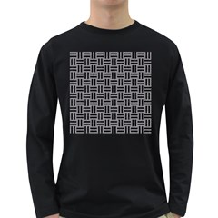 Woven1 Black Marble & Gray Colored Pencil (r) Long Sleeve Dark T Shirts