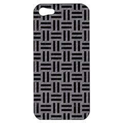 Woven1 Black Marble & Gray Colored Pencil (r) Apple Iphone 5 Hardshell Case