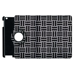 Woven1 Black Marble & Gray Colored Pencil (r) Apple Ipad 2 Flip 360 Case