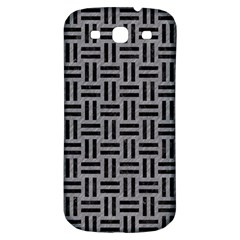 Woven1 Black Marble & Gray Colored Pencil (r) Samsung Galaxy S3 S Iii Classic Hardshell Back Case