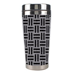 Woven1 Black Marble & Gray Colored Pencil (r) Stainless Steel Travel Tumblers
