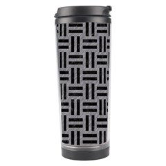Woven1 Black Marble & Gray Colored Pencil (r) Travel Tumbler
