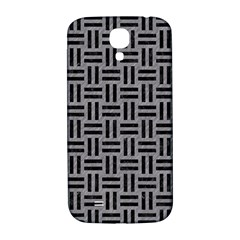 Woven1 Black Marble & Gray Colored Pencil (r) Samsung Galaxy S4 I9500/i9505  Hardshell Back Case