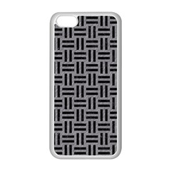 Woven1 Black Marble & Gray Colored Pencil (r) Apple Iphone 5c Seamless Case (white)