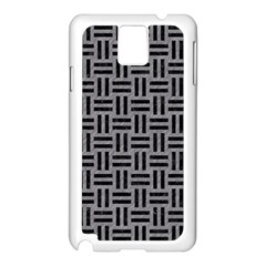 Woven1 Black Marble & Gray Colored Pencil (r) Samsung Galaxy Note 3 N9005 Case (white)