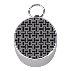Woven1 Black Marble & Gray Colored Pencil (r) Mini Silver Compasses