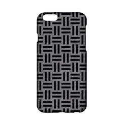 Woven1 Black Marble & Gray Colored Pencil (r) Apple Iphone 6/6s Hardshell Case