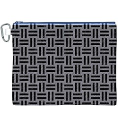 Woven1 Black Marble & Gray Colored Pencil (r) Canvas Cosmetic Bag (xxxl)