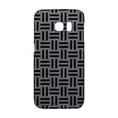 Woven1 Black Marble & Gray Colored Pencil (r) Galaxy S6 Edge