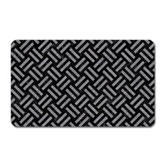 Woven2 Black Marble & Gray Colored Pencil Magnet (rectangular)