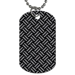 Woven2 Black Marble & Gray Colored Pencil Dog Tag (one Side)