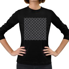 Woven2 Black Marble & Gray Colored Pencil Women s Long Sleeve Dark T Shirts