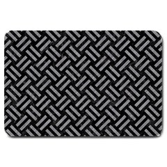 Woven2 Black Marble & Gray Colored Pencil Large Doormat
