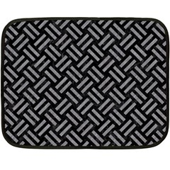 Woven2 Black Marble & Gray Colored Pencil Double Sided Fleece Blanket (mini)