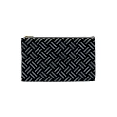 Woven2 Black Marble & Gray Colored Pencil Cosmetic Bag (small)
