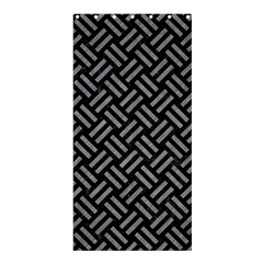 Woven2 Black Marble & Gray Colored Pencil Shower Curtain 36  X 72  (stall)