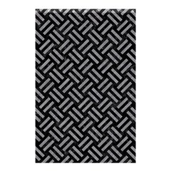 Woven2 Black Marble & Gray Colored Pencil Shower Curtain 48  X 72  (small)