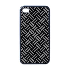 Woven2 Black Marble & Gray Colored Pencil Apple Iphone 4 Case (black)