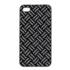 Woven2 Black Marble & Gray Colored Pencil Apple Iphone 4/4s Seamless Case (black)