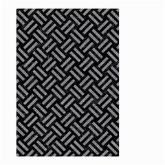 Woven2 Black Marble & Gray Colored Pencil Small Garden Flag (two Sides)