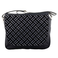 Woven2 Black Marble & Gray Colored Pencil Messenger Bags