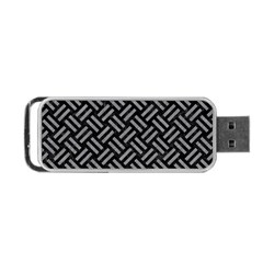 Woven2 Black Marble & Gray Colored Pencil Portable Usb Flash (one Side)