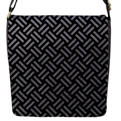 Woven2 Black Marble & Gray Colored Pencil Flap Messenger Bag (s)