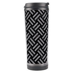 Woven2 Black Marble & Gray Colored Pencil Travel Tumbler
