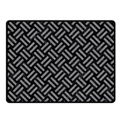 Woven2 Black Marble & Gray Colored Pencil Double Sided Fleece Blanket (small)