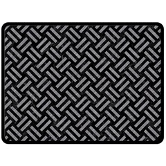 Woven2 Black Marble & Gray Colored Pencil Double Sided Fleece Blanket (large)
