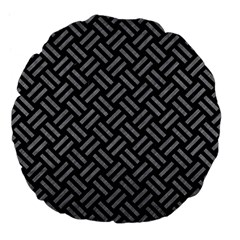 Woven2 Black Marble & Gray Colored Pencil Large 18  Premium Flano Round Cushions